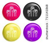 fists multi color glossy badge...