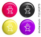 grill multi color glossy badge...