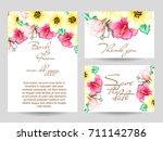 vintage delicate invitation... | Shutterstock .eps vector #711142786