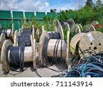 Small photo of High and low voltage cables in the storage