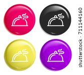 salver multi color glossy badge ...