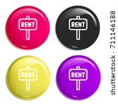 rent multi color glossy badge...