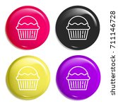 muffin multi color glossy badge ...