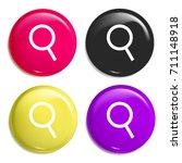 loupe multi color glossy badge...