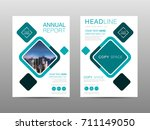 annual report brochure layout... | Shutterstock .eps vector #711149050
