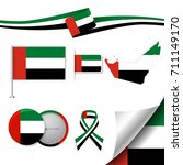 flag with elements arab emirates   Shutterstock .eps vector #711149170