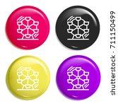 ferris wheel multi color glossy ...