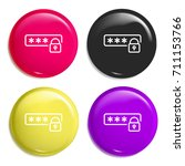 password multi color glossy...