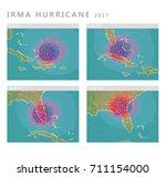 irma hurricane 2017 forecast... | Shutterstock .eps vector #711154000