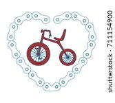 cute tricycle with heart | Shutterstock .eps vector #711154900