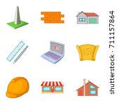 guard icons set. cartoon set of ... | Shutterstock .eps vector #711157864