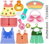 vector of dress  bags ... | Shutterstock .eps vector #71116063