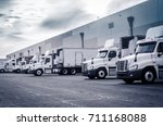 delivering or supply concept... | Shutterstock . vector #711168088