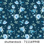 seamless pattern with vintage... | Shutterstock .eps vector #711169948