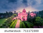 ahsan manzil is one of the most ... | Shutterstock . vector #711172300
