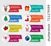 christmas sale banner | Shutterstock .eps vector #711179599
