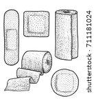 bandage  illustration  drawing  ... | Shutterstock .eps vector #711181024
