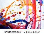 abstract watercolor texture.... | Shutterstock . vector #711181210