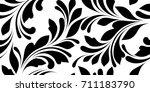 floral seamless pattern. not... | Shutterstock .eps vector #711183790
