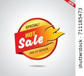 sale and special offer banner ... | Shutterstock .eps vector #711185473
