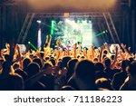 crowd in a concert | Shutterstock . vector #711186223