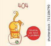 404. funny cat | Shutterstock . vector #711186790