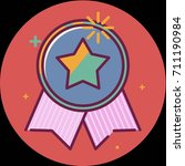 best of badge with ribbon icon... | Shutterstock .eps vector #711190984