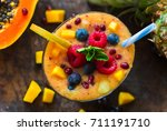 Tropical Fruit Smoothie With...