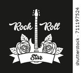 music slogan and poster... | Shutterstock .eps vector #711197524