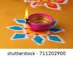 diwali  deepavali or deepawali  ... | Shutterstock . vector #711202900