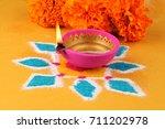 diwali  deepavali or deepawali  ... | Shutterstock . vector #711202978