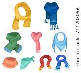 beautiful woolen  silk colored... | Shutterstock .eps vector #711208096