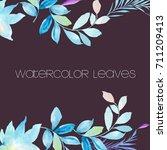watercolor leaves   Shutterstock . vector #711209413