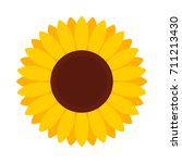 sunflower. vector illustration. ... | Shutterstock .eps vector #711213430