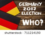 Small photo of Election in Germany. GERMANY, 2017, ELECTION, inscription on a wooden background. Politics concept