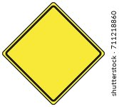 blank diamond shaped road sign | Shutterstock .eps vector #711218860