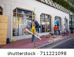 usa. florida. miami beach ... | Shutterstock . vector #711221098