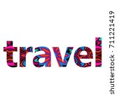 beautiful ornate colorful word '... | Shutterstock .eps vector #711221419