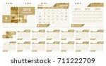 calendar 2018 template week... | Shutterstock .eps vector #711222709