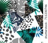 geometric pattern  seamless... | Shutterstock .eps vector #711230746