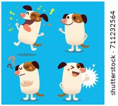 vector set of cute dog... | Shutterstock .eps vector #711232564