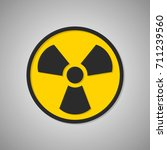 toxic icon. radioactive sign.... | Shutterstock .eps vector #711239560