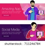 mobile tablet with app for the...   Shutterstock .eps vector #711246784