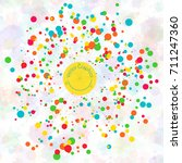 colorful vector burst with the... | Shutterstock .eps vector #711247360