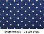 peas stamp print on denim blue ... | Shutterstock . vector #711251908