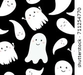 seamless pattern with cute... | Shutterstock .eps vector #711254770