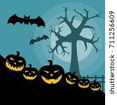 halloween pumpkins | Shutterstock .eps vector #711256609