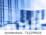 stock market exchange and... | Shutterstock . vector #711259624