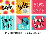 sale poster design | Shutterstock .eps vector #711260719