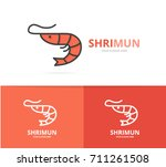 vector of shrimp and seafood...   Shutterstock .eps vector #711261508